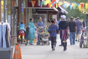 "A scene from Frederick Wiseman's film ""In Jackson Heights,"" which paints an impressionistic portrait of one of New York City's most ethnically diverse neighborhoods. PHOTO: ZIPPORAH FILMS"
